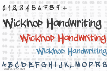 Wickhop Handwriting Font