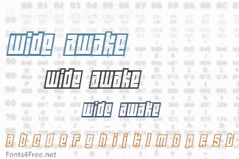 Wide Awake Font