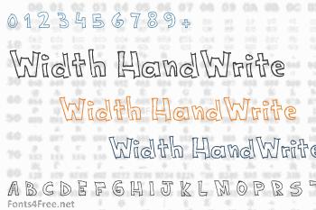 Width HandWrite Font