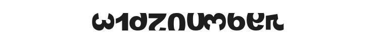 Widznumber Text 1 Font Preview
