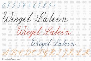 Wiegel Latein Font