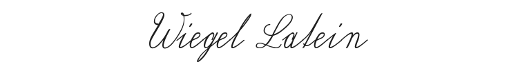 Wiegel Latein Font Preview