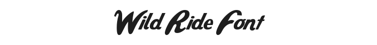 Wild Ride Font Preview