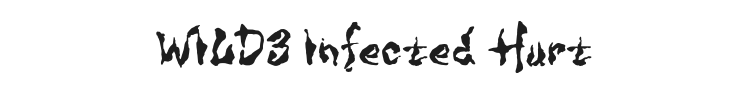 WILD3 Infected Hurt Font