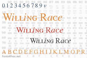 Willing Race Font