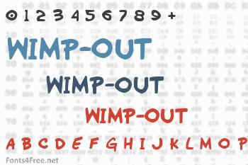 Wimp-Out Font