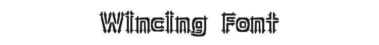 Wincing Font Preview