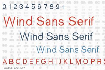 Wind Sans Serif Font