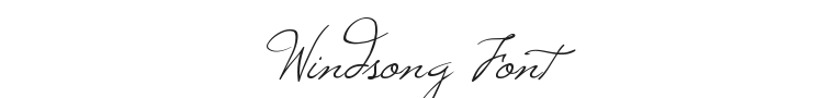 Windsong Font Preview