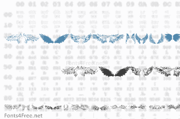Wings of Wind Font