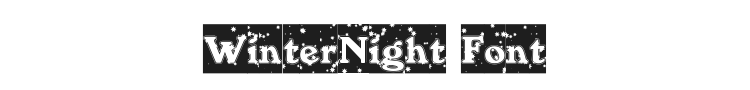 WinterNight Font Preview