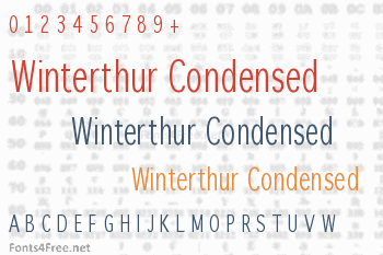 Winterthur Condensed Font
