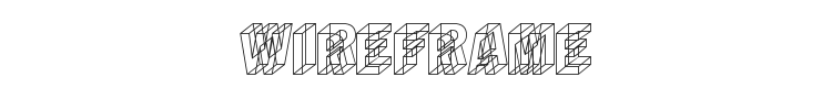 Wireframe Font Preview