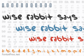 Wise Rabbit Says Font