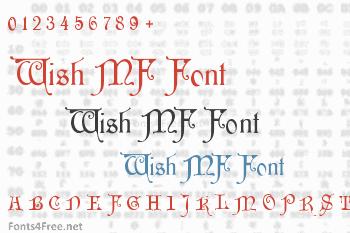 Wish MF Font