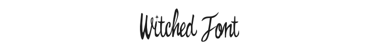 Witched Font Preview