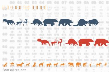 WM Animals 2 Font