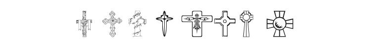 WM Crosses 1 Font Preview