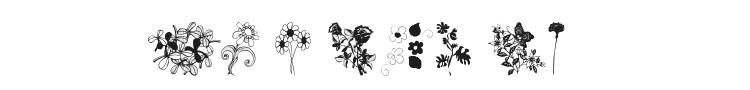 WM Flowers Font Preview