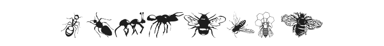 WM Insects Font Preview