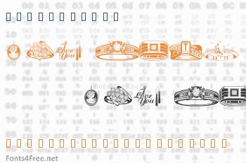 WM Jewelry Font