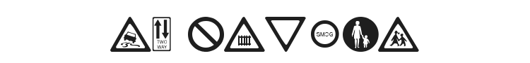 WM Roadsigns Font Preview