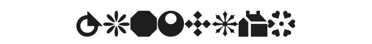 WM Shapes 1 Font Preview