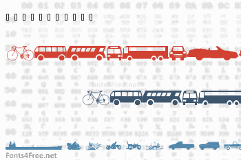 WM Transport 1 Font