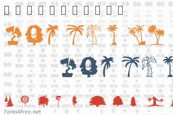 WM Trees 1 Font