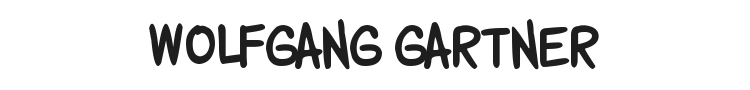 Wolfgang Gartner Font