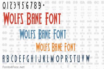 Wolfs Bane Font