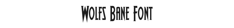 Wolfs Bane Font Preview