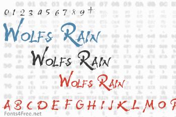 Wolfs Rain Font