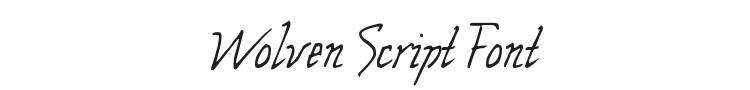 Wolven Script Font Preview