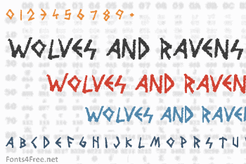 Wolves and Ravens Font