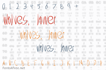 Wolves, lower Font