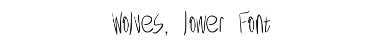 Wolves, lower Font Preview