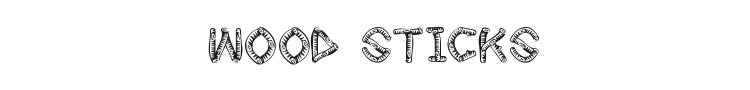 Wood Sticks Font Preview