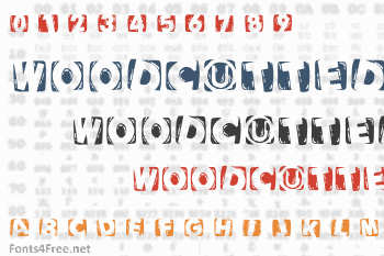 Woodcutted Caps Font