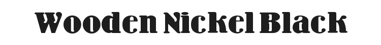 Wooden Nickel Black Font Preview