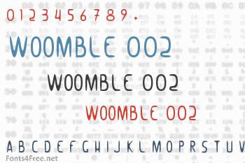 Woomble 002 Font