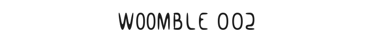 Woomble 002 Font Preview