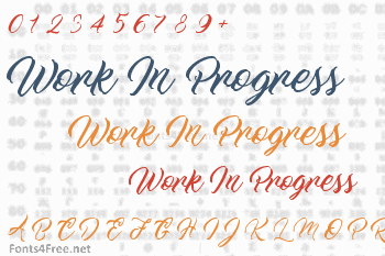 Work In Progress Font