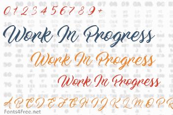 Work In Progress Font