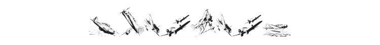 World War II Warplanes Font