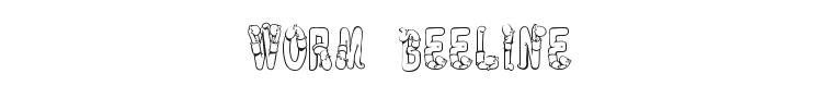 Worm Beeline Font