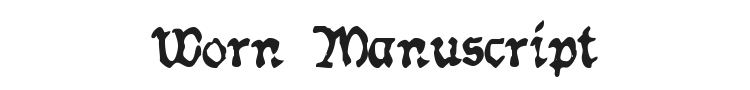 Worn Manuscript Rough Font Preview