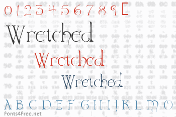 Wretched Font