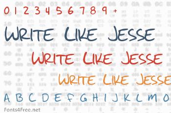 Write Like Jesse Font