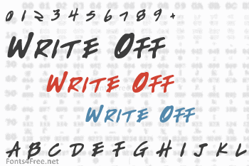 Write Off Font